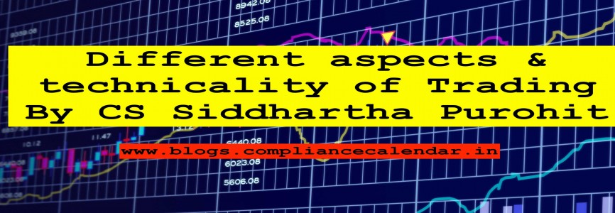 Different aspects & technicality of Trading By CS Siddhartha Purohit