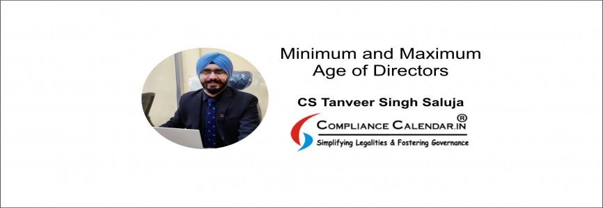 Minimum and Maximum Age of Directors: An Analysis By CS Tanveer Singh Saluja