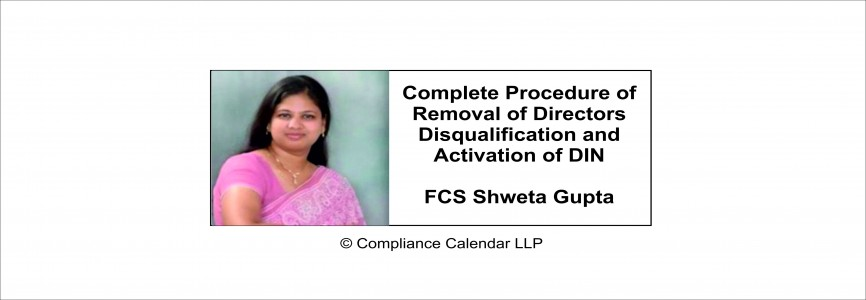 Complete Procedure of Removal of Directors Disqualification and Activation of DIN By FCS Shweta Gupta
