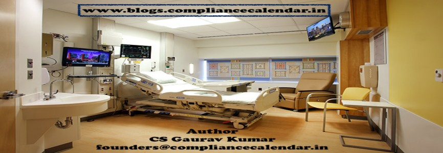 Rent paid by Patients in hospital has been exempted from Goods and Services Tax (GST) By CS Gaurav Kumar