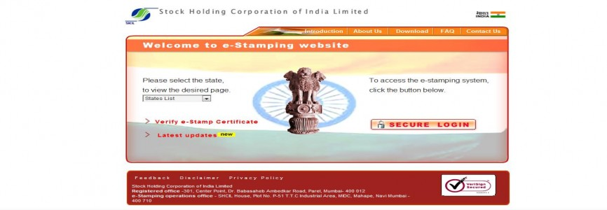 e-Stamping on Share Certificates