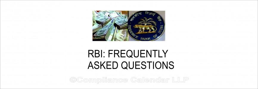RBI: FAQ's on Micro, Small and Medium Enterprises