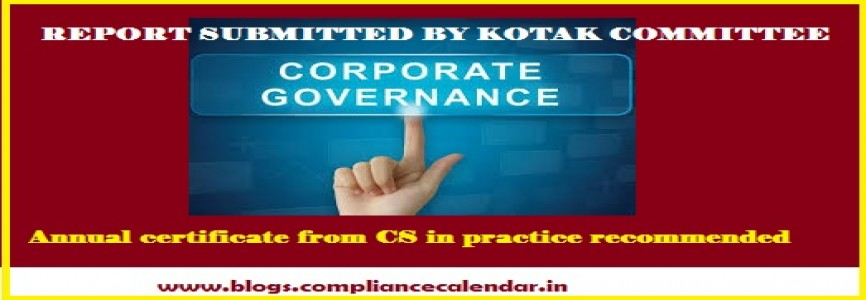 Annual certificate from CS in practice recommended regarding disqualification of directors under SEBI Committee on Corporate Governance