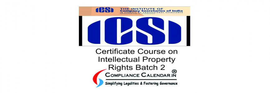 Certificate Course on Intellectual Property Rights Batch 2