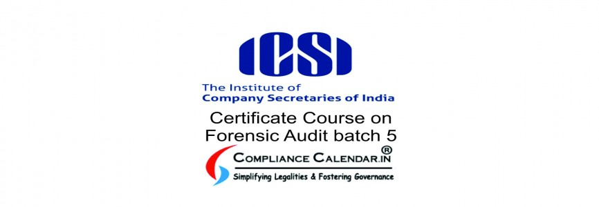 Certificate Course on Forensic Audit batch 5