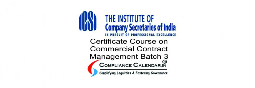 Certificate Course on Commercial Contract Management Batch 3