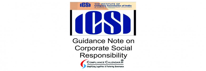 Guidance Note on Corporate Social Responsibility